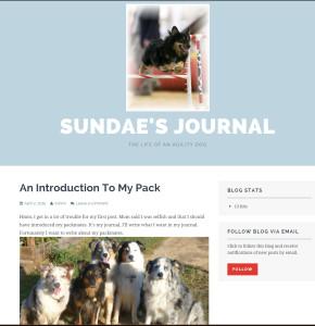 Sundae's Journal using the Plane theme