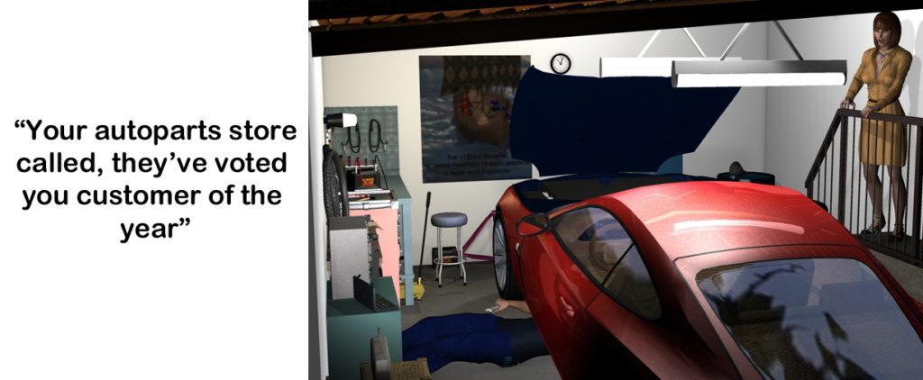 Car repair header